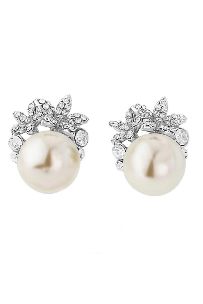 Pearl And Diamante Earrings