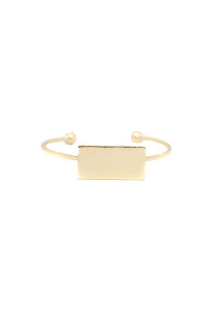 Gold Rectangle Bracelet