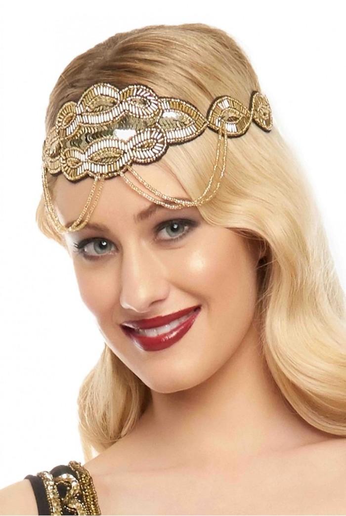 Ritz Headband in Black Gold