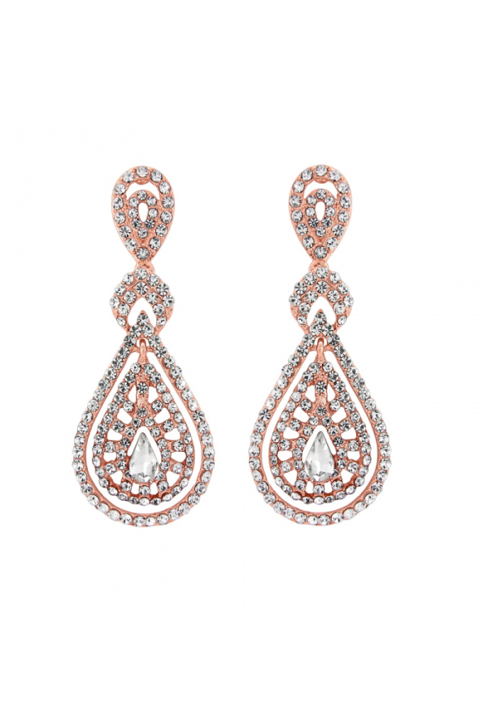 Rose Gold Gatsby Earrings