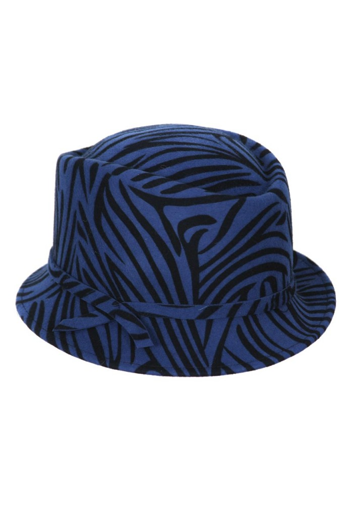 Animal Print Trilby Hat