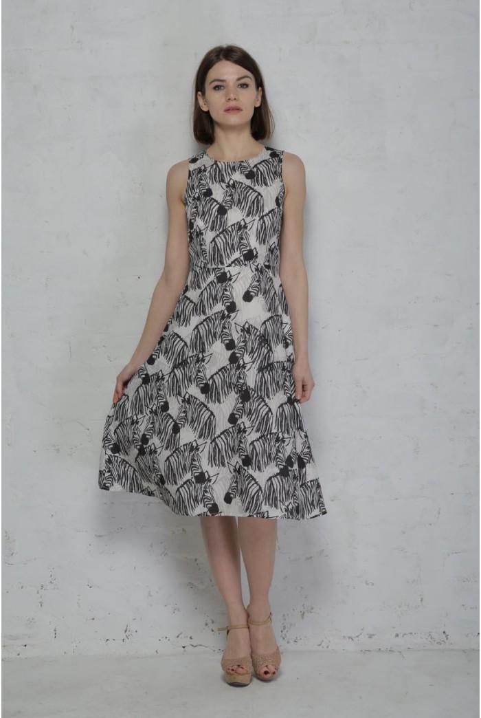 Sugarhill Boutique Zebra Midi Dress