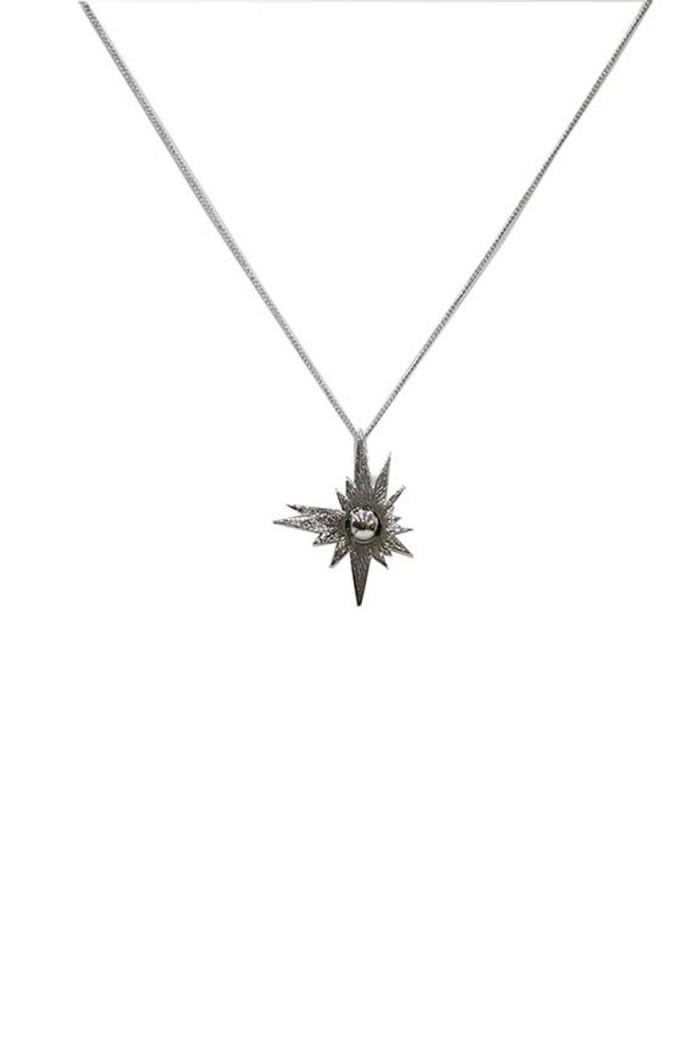 Silver Sun Necklace