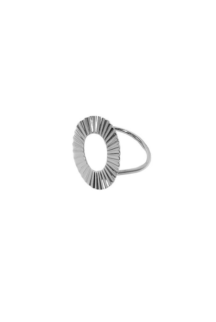 Silver Sunburst Ring