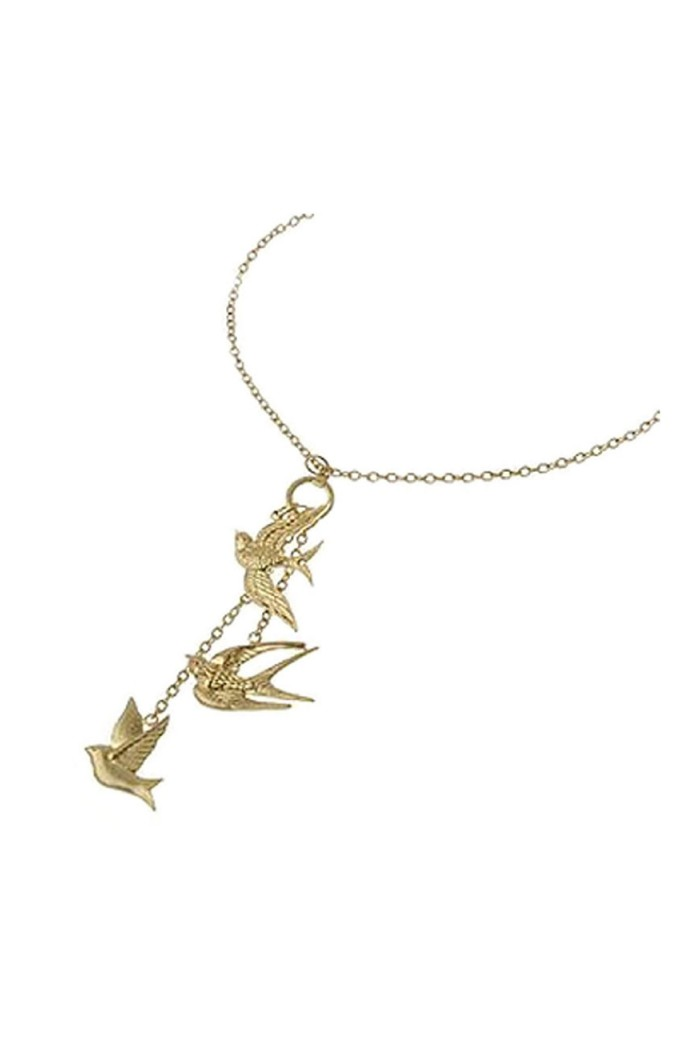 Bee Swift Gold Bird Necklace