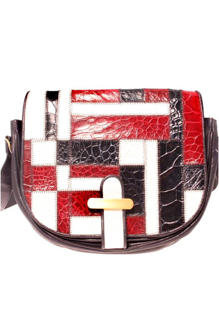 Vintage Patterned Handbag