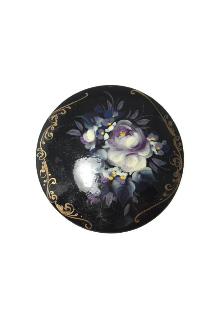 Vintage Purple Floral Brooch