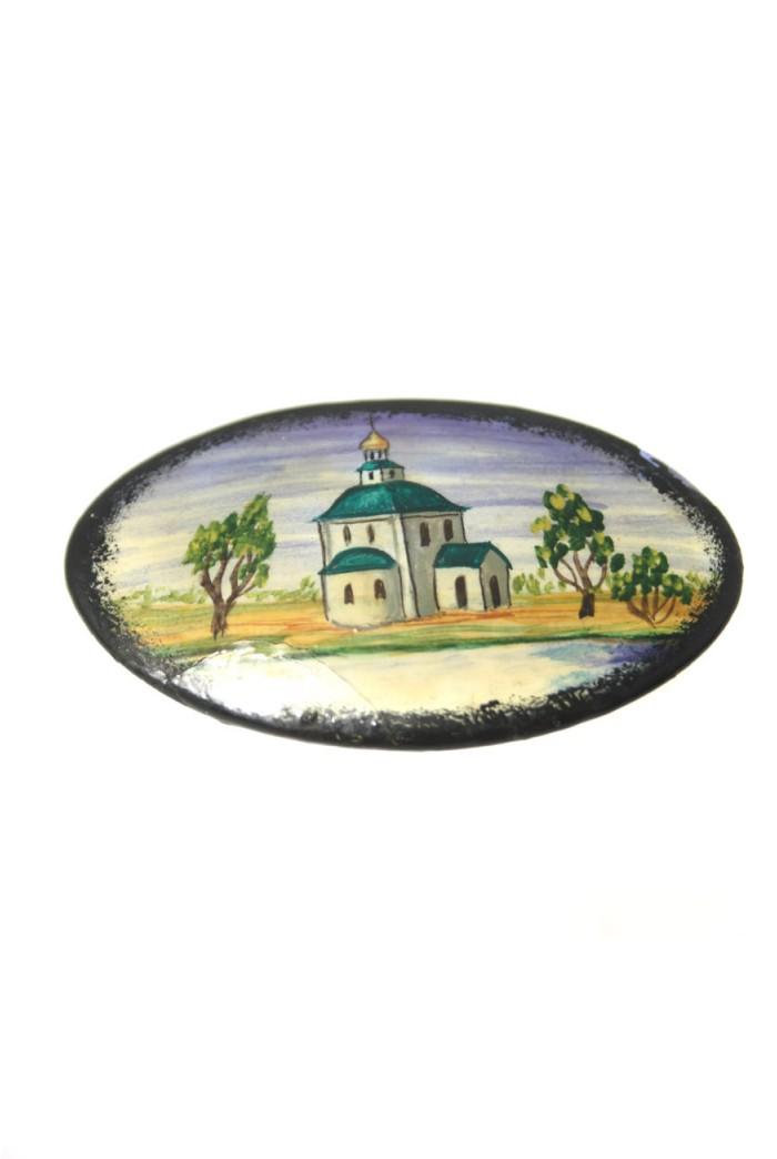 Vintage Painted Brooch