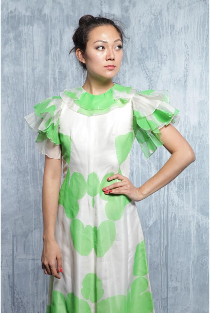 Vintage 1970s Summer Maxi Dress