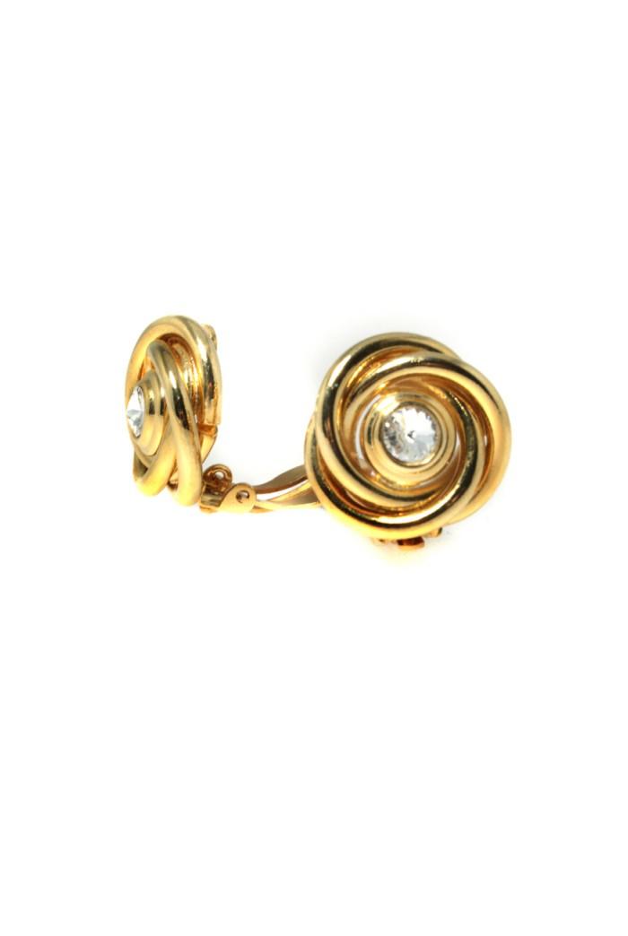 Vintage 1970s Gold Swirl Earrings