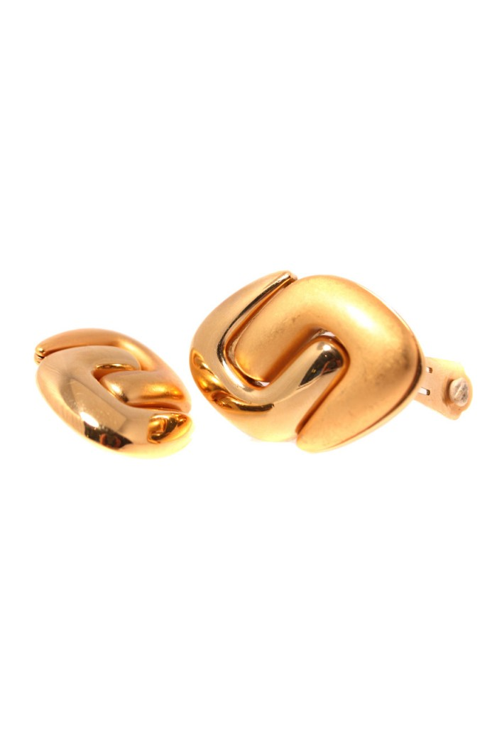 Vintage 1980s Gold Earrings