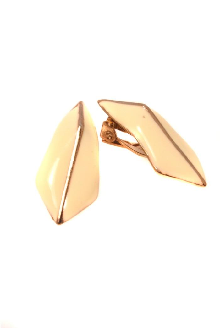 Vintage 1970s White Arrow Earrings