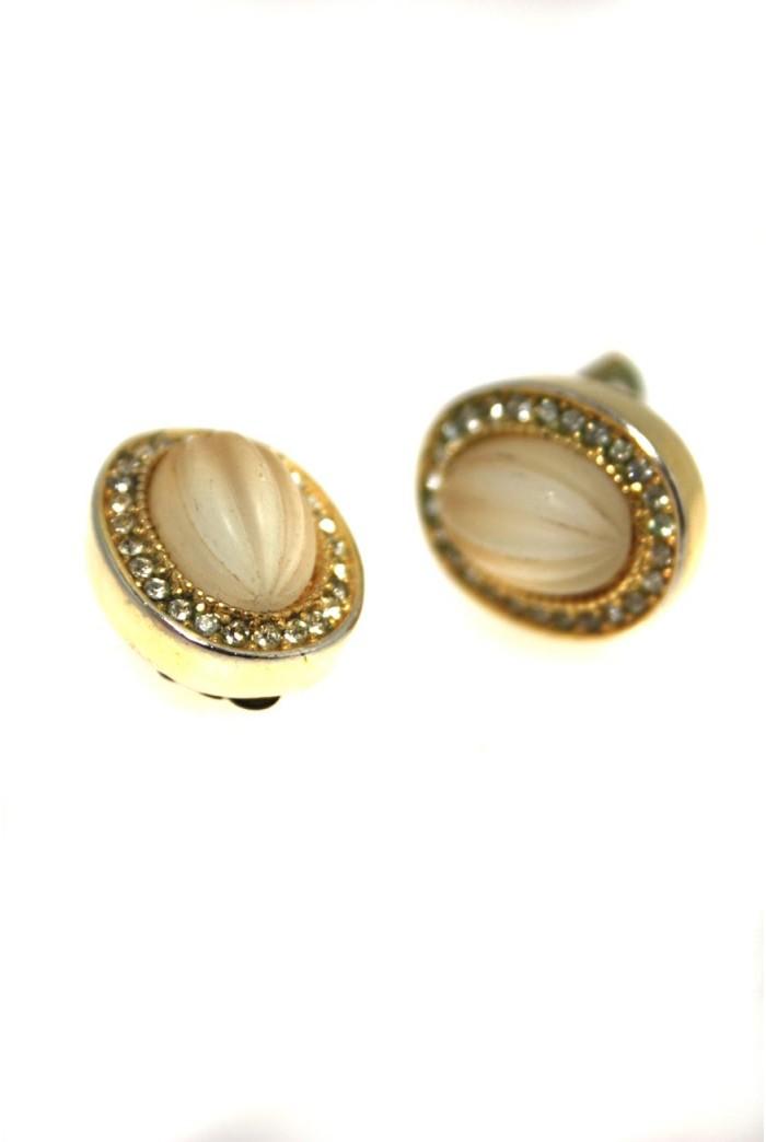 Vintage Dior Oval Earrings