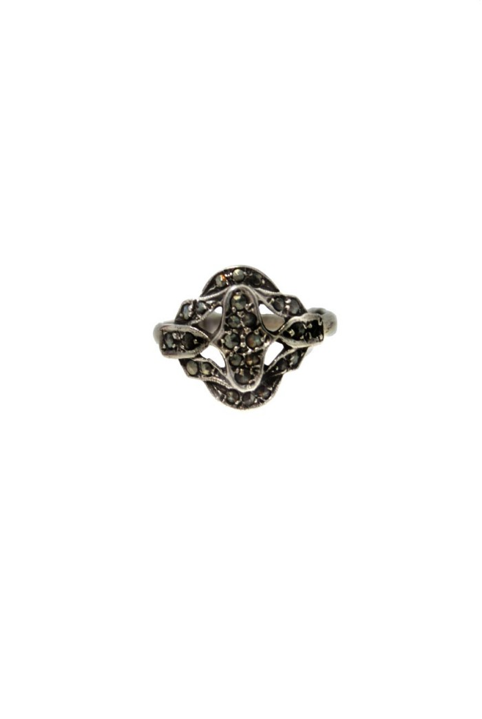 Vintage Silver Marcasite Ring