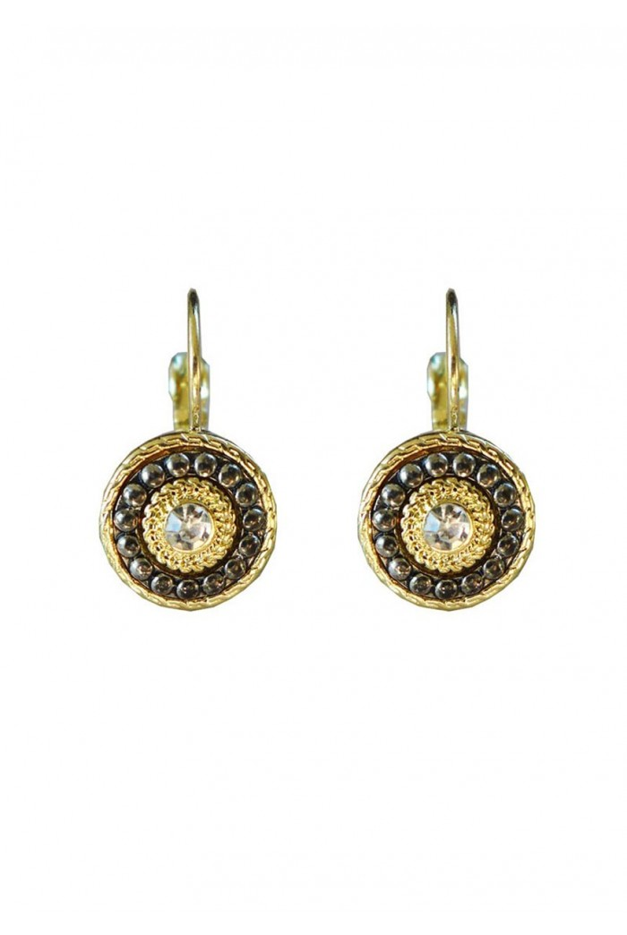 Art Deco Earrings - Gold