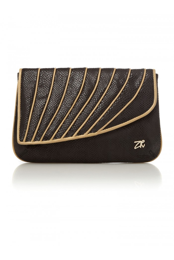 Zandra Rhodes Lucy Clutch Bag Black