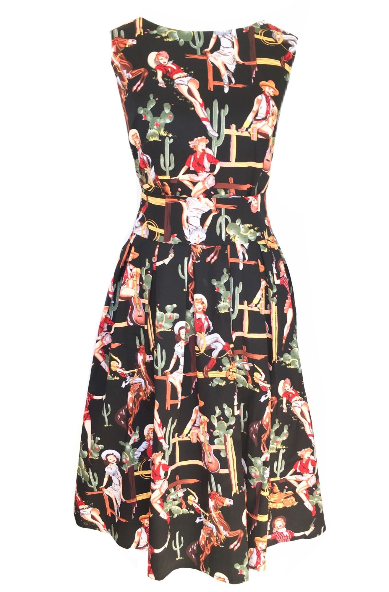 Cowgirl Print Dress Quirky Printed Prom