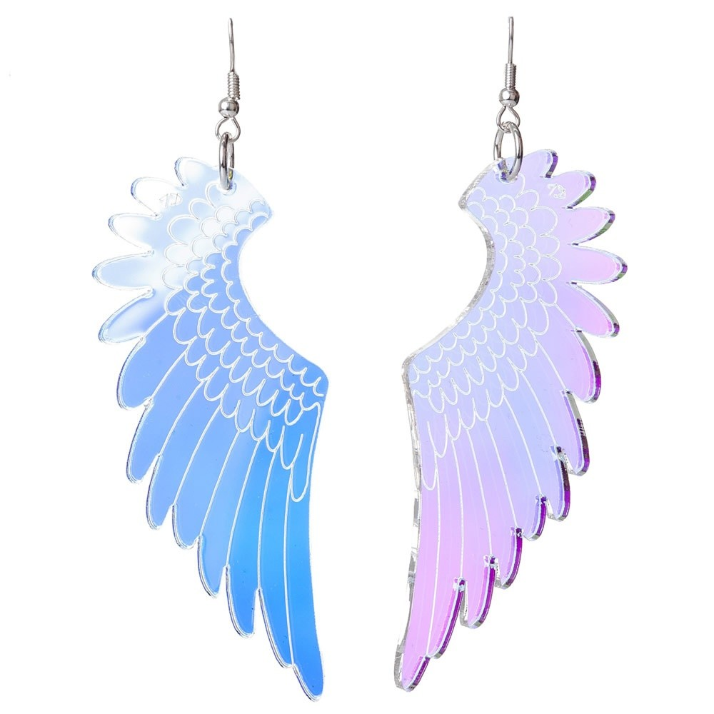 Tatty Devine Pegasus Earrings Iridescent Silver Wing