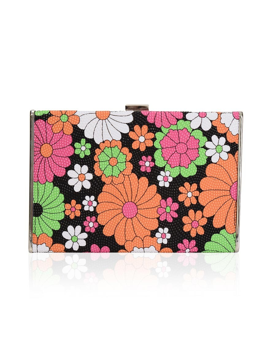 1970s Floral Clutch Flower Power