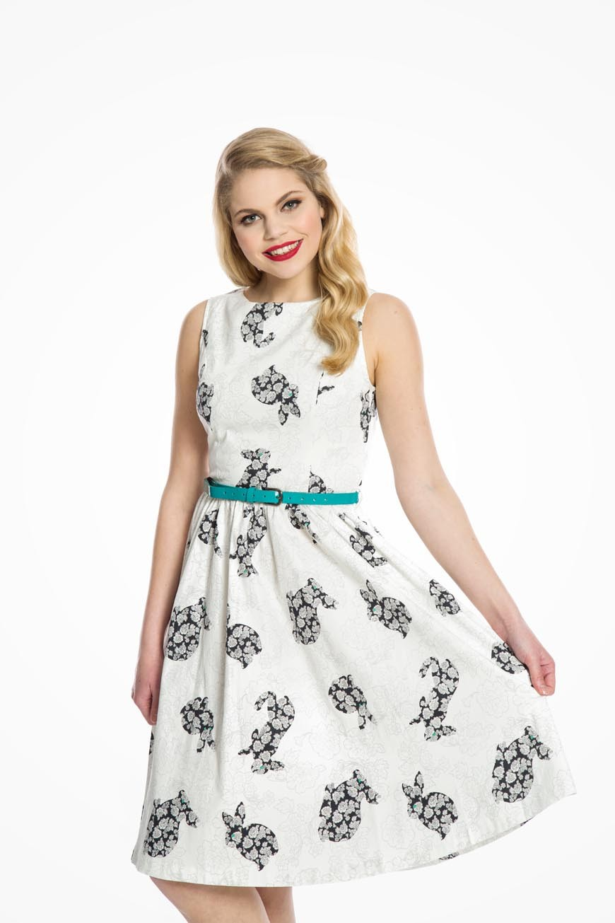 Rabbit Print Prom Dress Lindy Bop