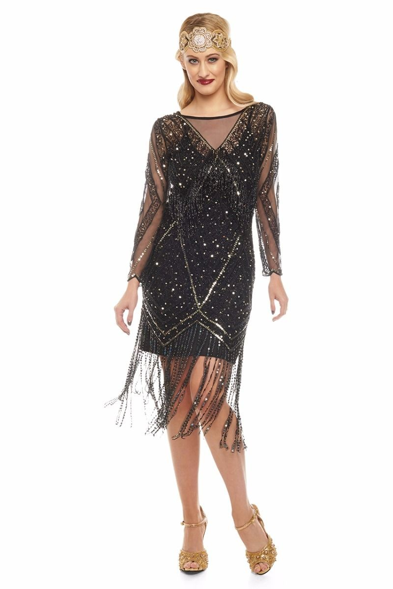 Long Sleeved Flapper Dress