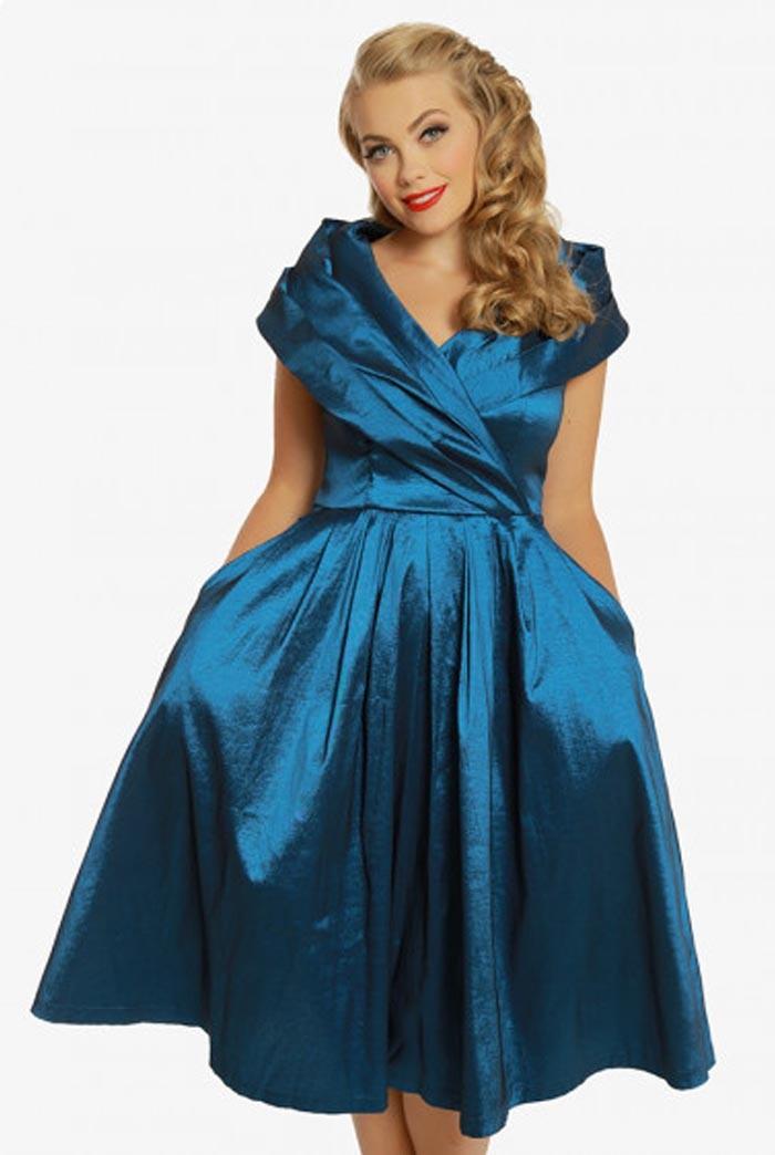 Blue Occasion Prom Dress Blue Vintage Bridemaid Dress