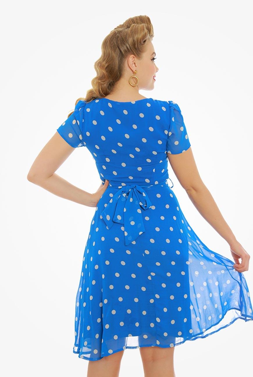 Blue Polka Dot Tea Dress