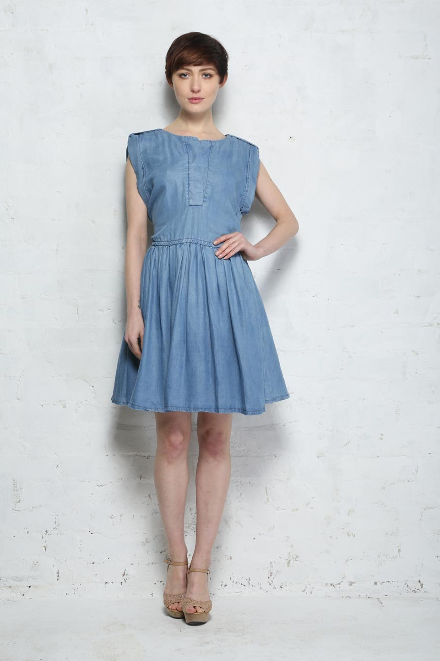 Denim Prom Dress - Ichi