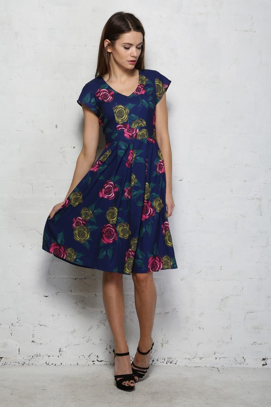 Darling Talia Dress Floral Prom Dress 1950s Style Dresses