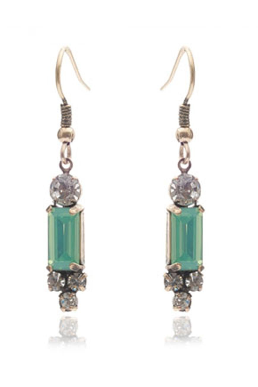 Green Art Deco Earrings Lovett Amp Co