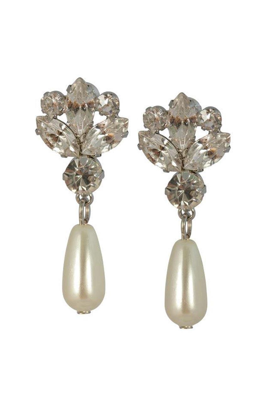 Pearl Drop Earrings Vintage Chandelier Earrings 1950s