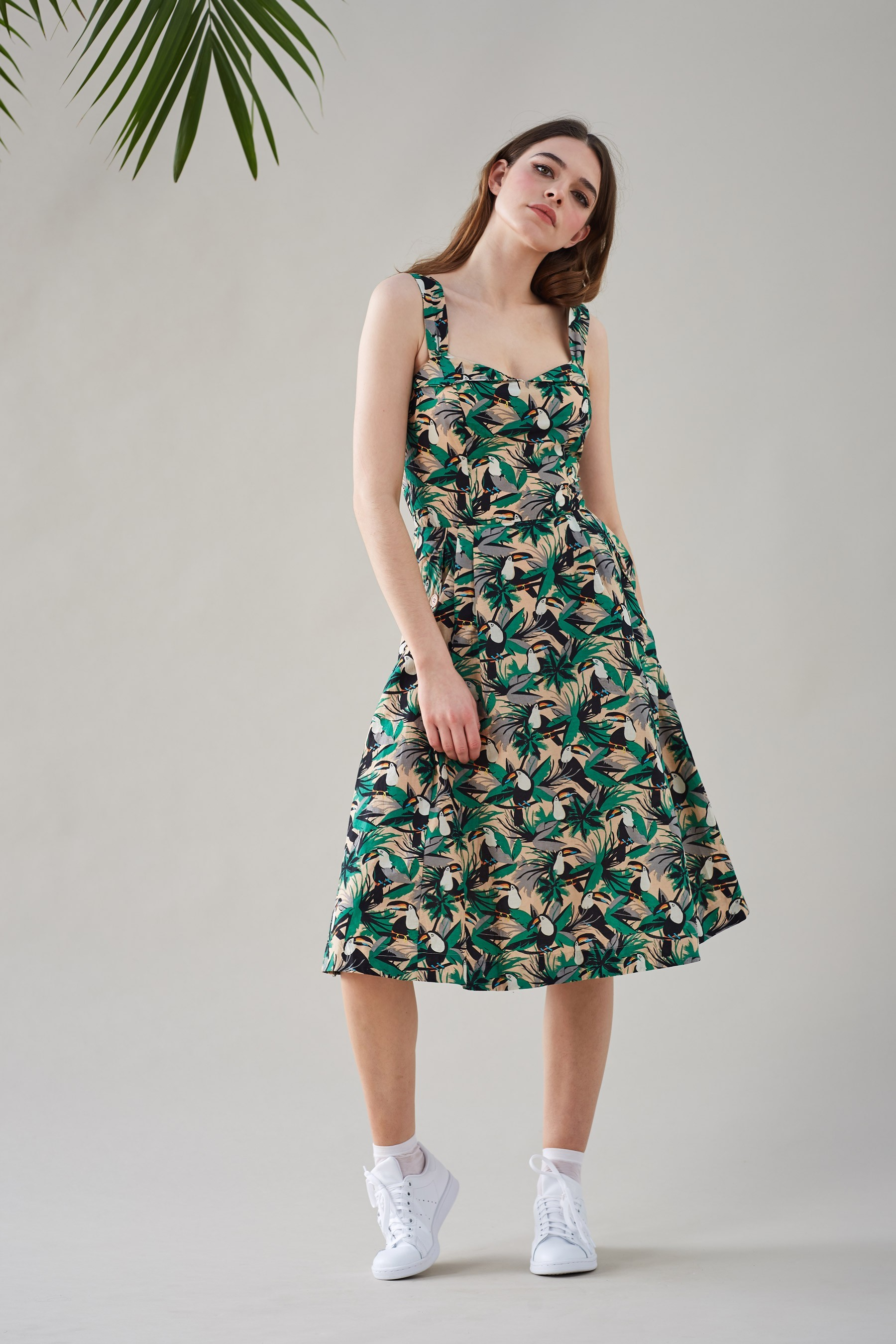 Toucan Print Summer Dress