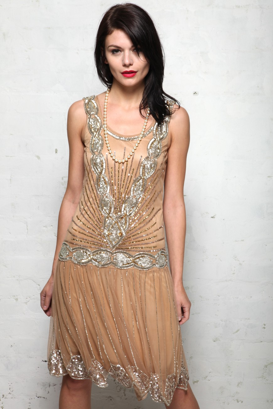 Frock and Frill Zelda Flapper dress - Sequined 1920s Dress 52496ff8f