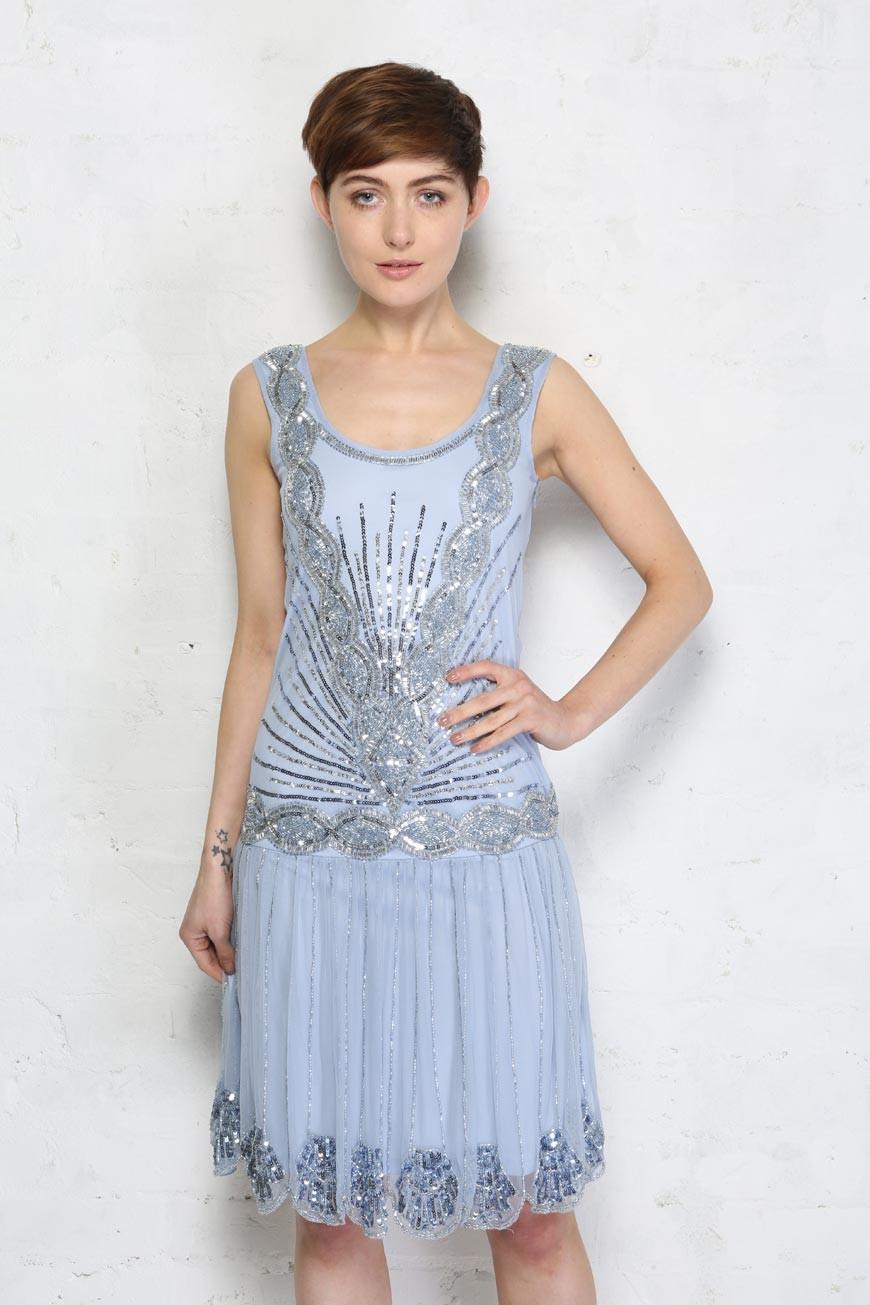 light blue zelda flapper dress frock and frill. Black Bedroom Furniture Sets. Home Design Ideas