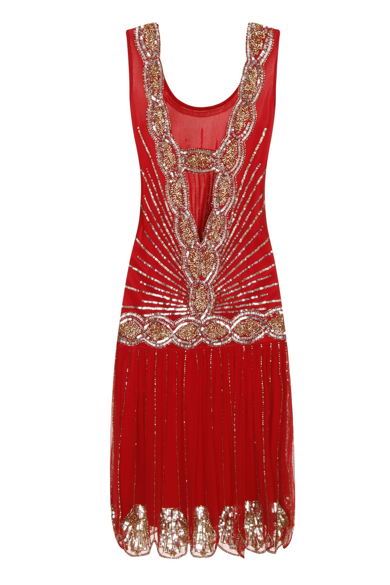 Frock Amp Frill Red Zelda Dress Bright Flapper Dress