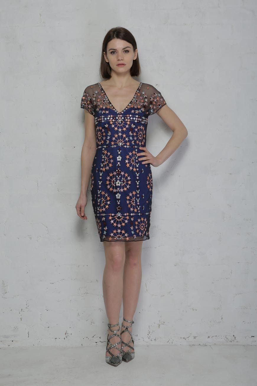 b8a6ec459486 French Connection Evie Sparkle Mini Dress - Embroidered Dress