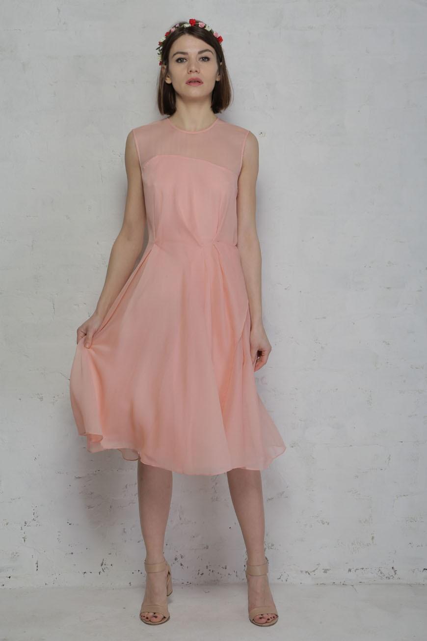 Chiffon dress rose