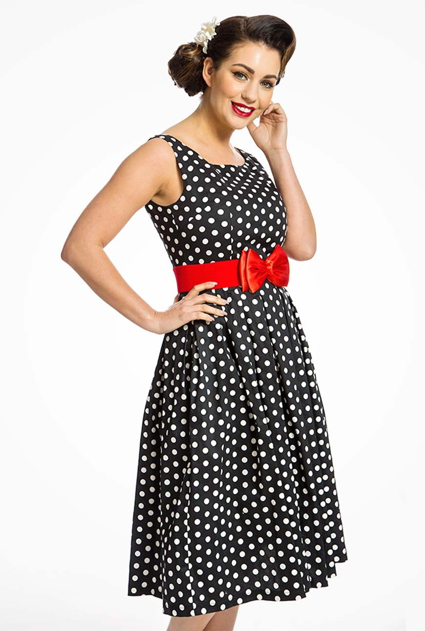 Black Polka Dot Prom Dress