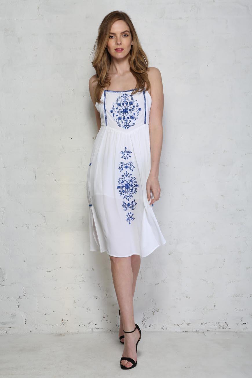 Little White Lies Ophelia Dress White Embroidered Dress