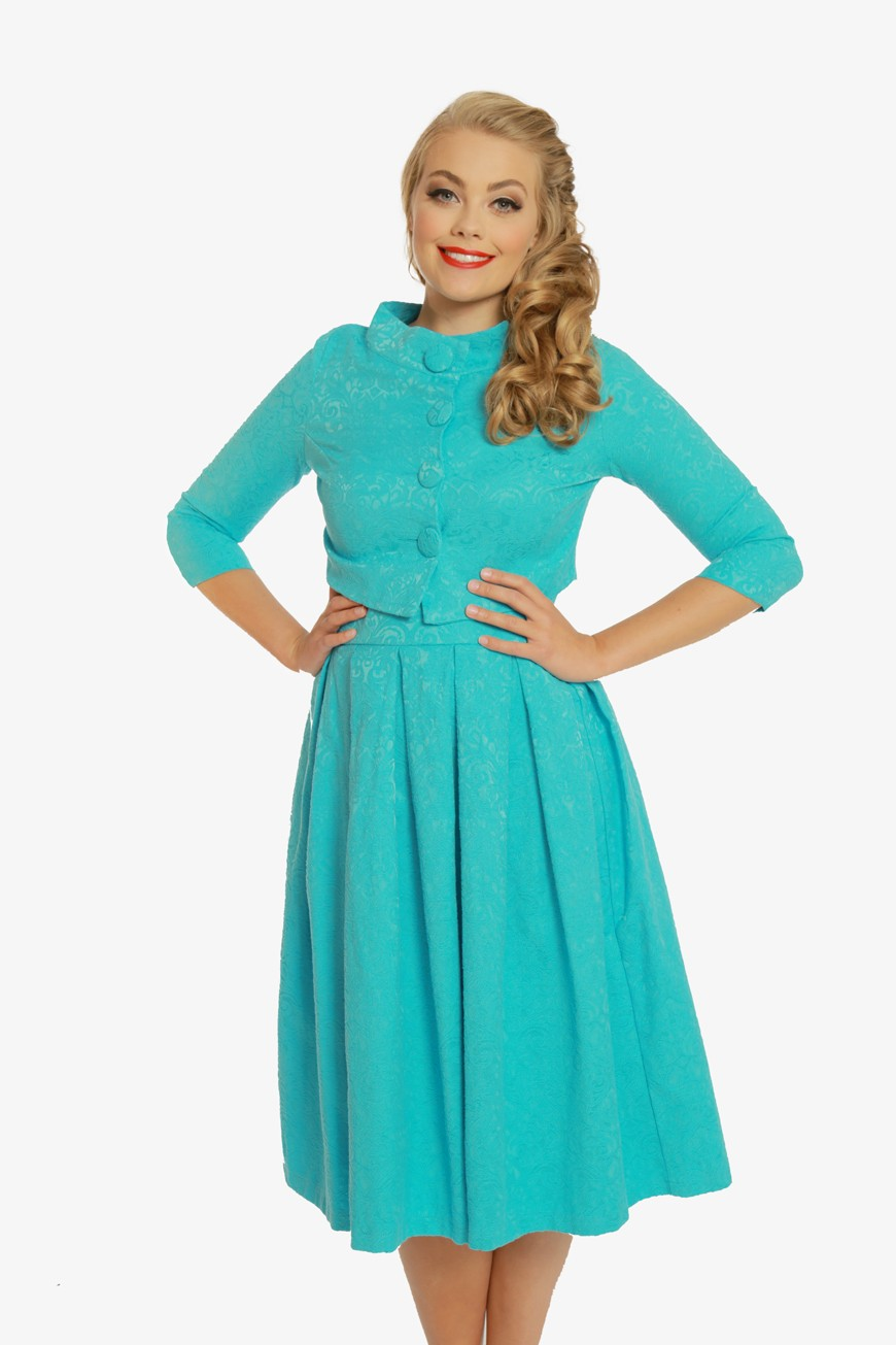 Blue Swing Dress Amp Jacket Set