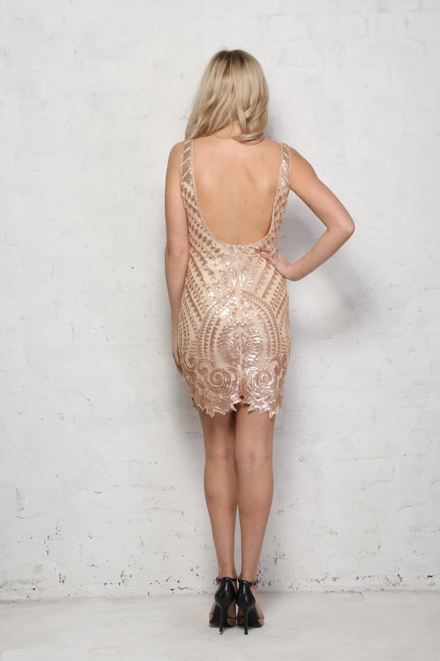 Nude and Gold Flapper Dress. Preorder. Preorder. Preorder 856bca6d7