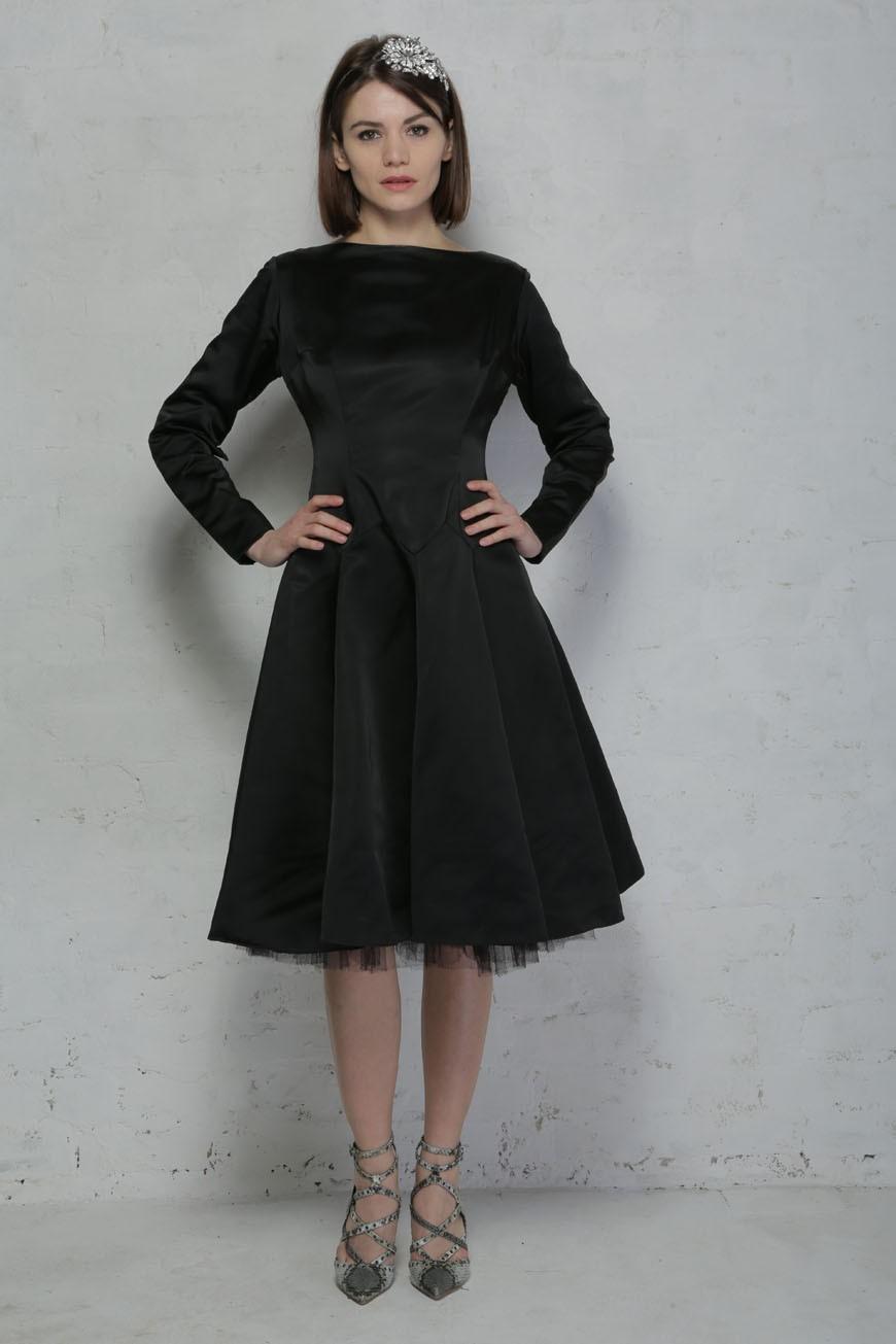 Vintage 1950s Satin Prom Dress