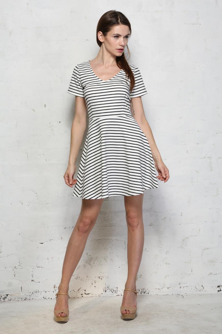 Sugarhill Boutique City Stripe Dress - Striped Dress - Prom Style ...