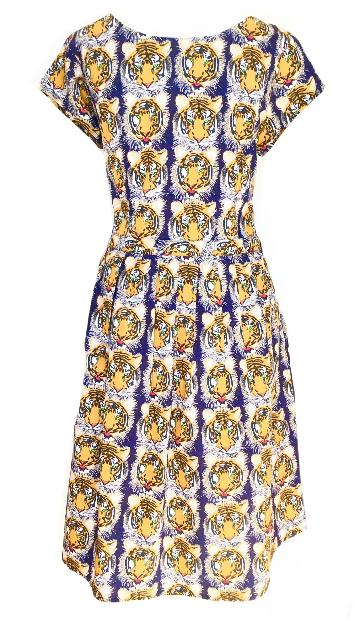 Tiger Print Prom Dress