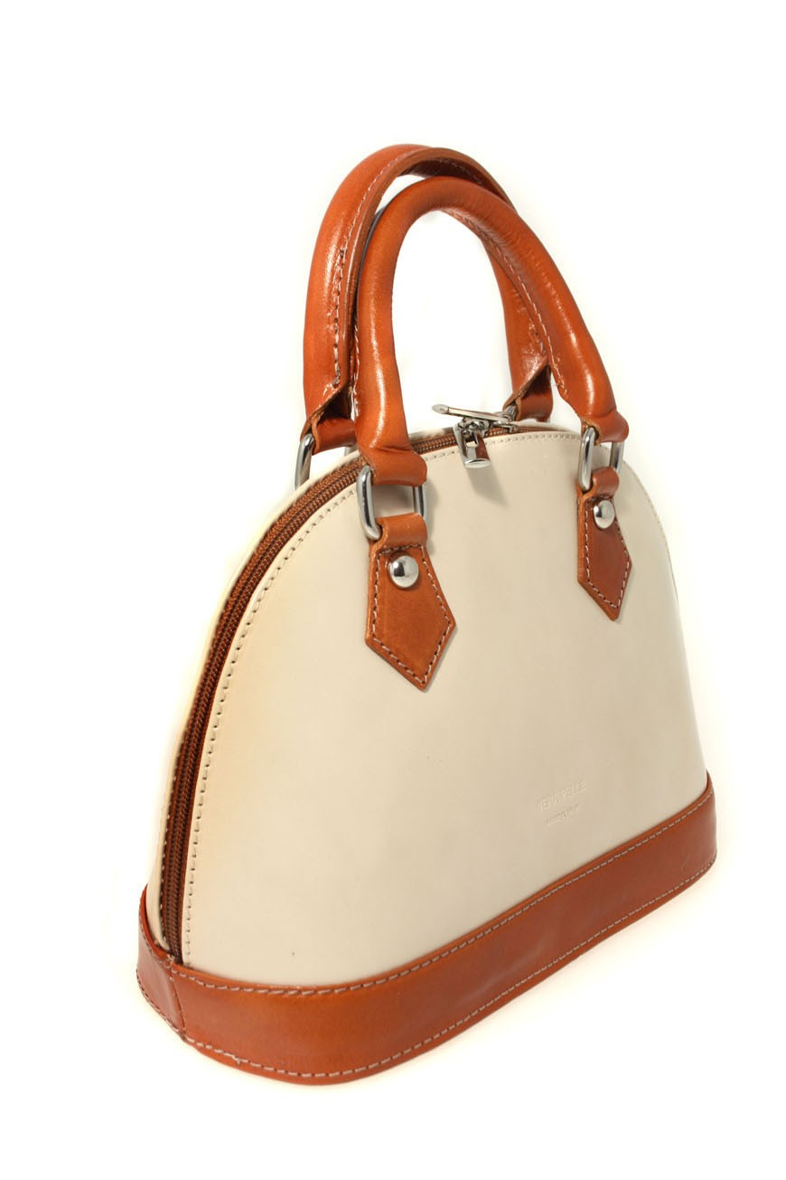 Cream Tote Bag 1940s Style Bowling Handbag Vintage Style Bags