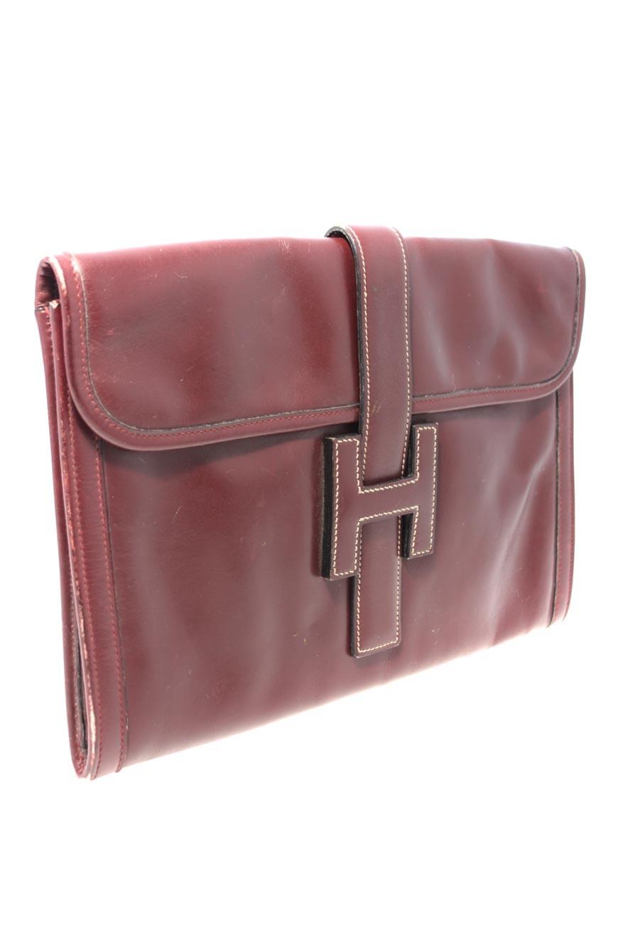 Vintage Hermes Jige Clutch Red Hermes Clutch Bag 1980s