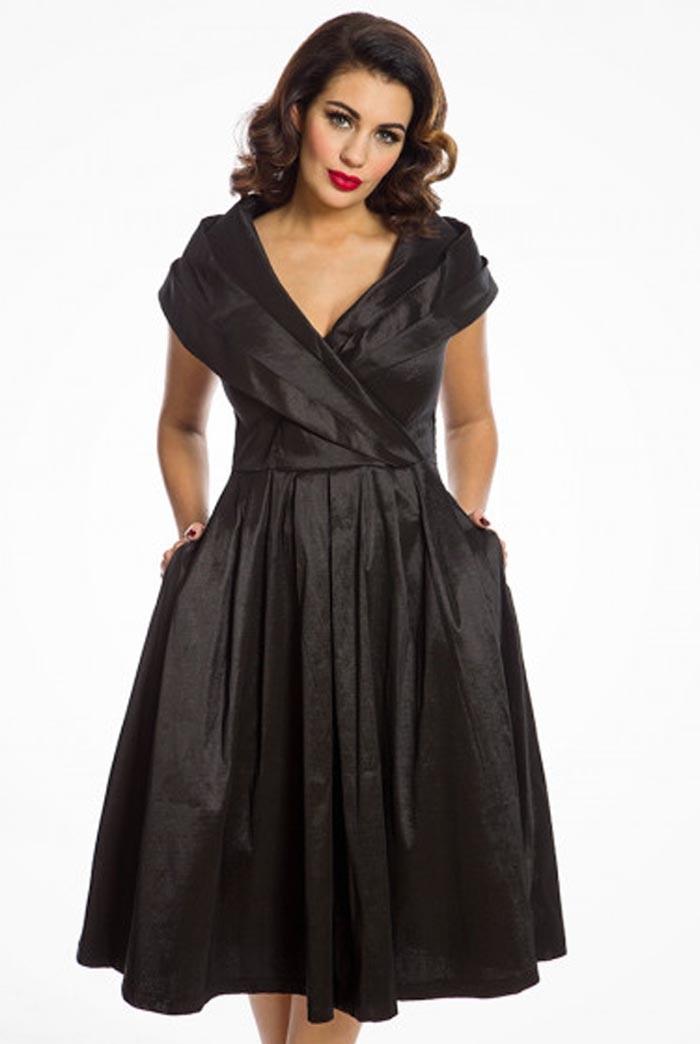 Vintage Evening Dresses and Formal Evening Gowns Black Occasion Prom Dress £44.00 AT vintagedancer.com