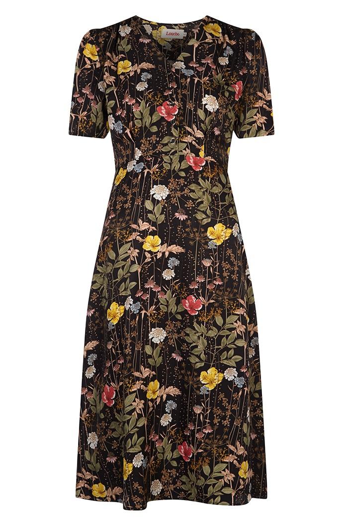 1930s Dresses, Shoes, Lingerie, Clothing UK Floral Tea Dress £18.00 AT vintagedancer.com