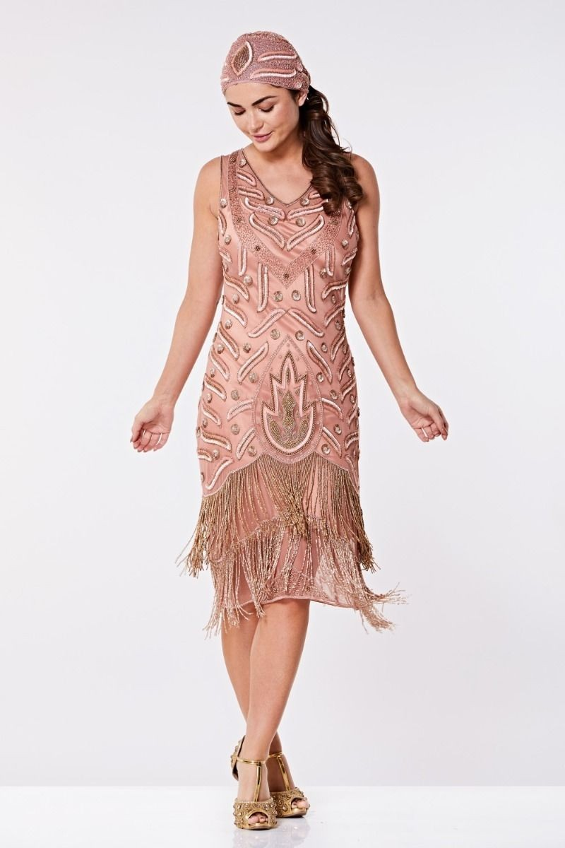 1920s Style Dresses, Flapper Dresses Rose Flapper Dress £125.00 AT vintagedancer.com