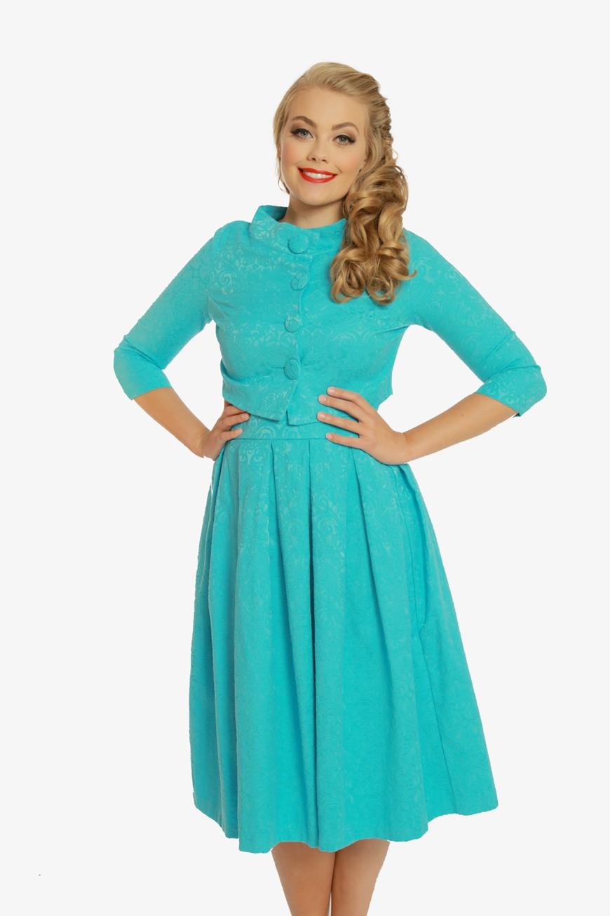 1960s Dresses: New 60s Style Dresses – Jackie O to Mod Blue Swing Dress amp Jacket Set £60.00 AT vintagedancer.com